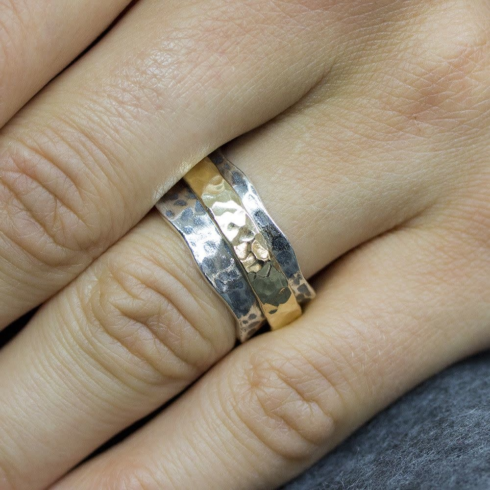 Ring Silver + Gold Filled 19968-9