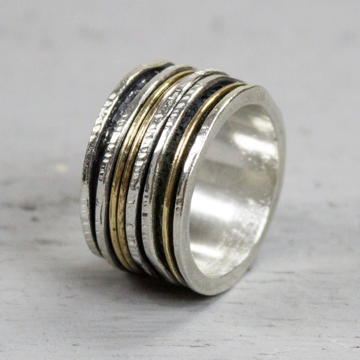 Ring Silver + Gold Filled 19436-3