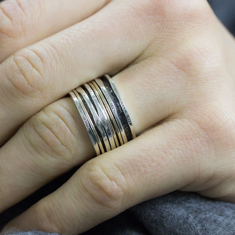 Ring Silver + Gold Filled 19436-8