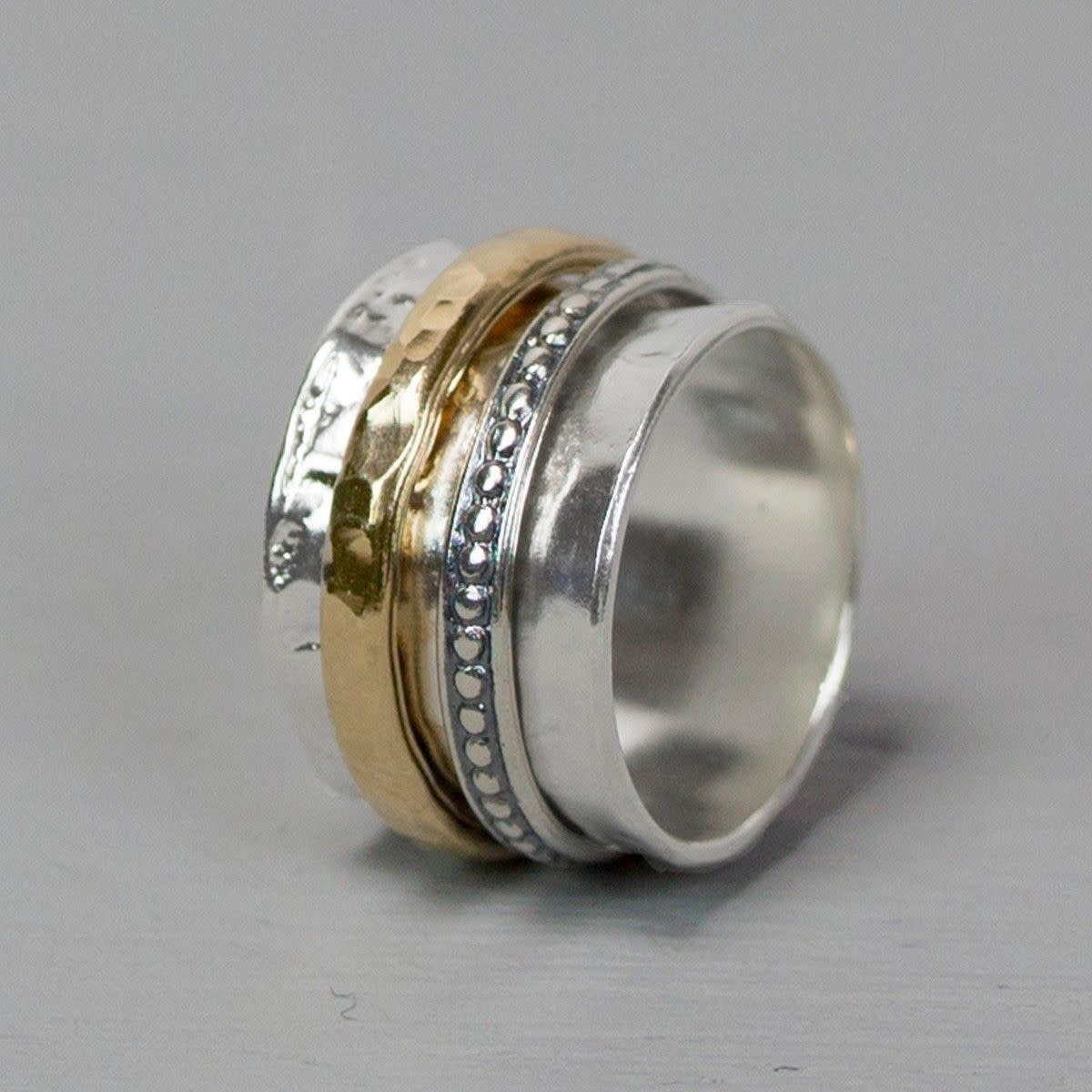 Ring Silver + Gold Filled 20099-7