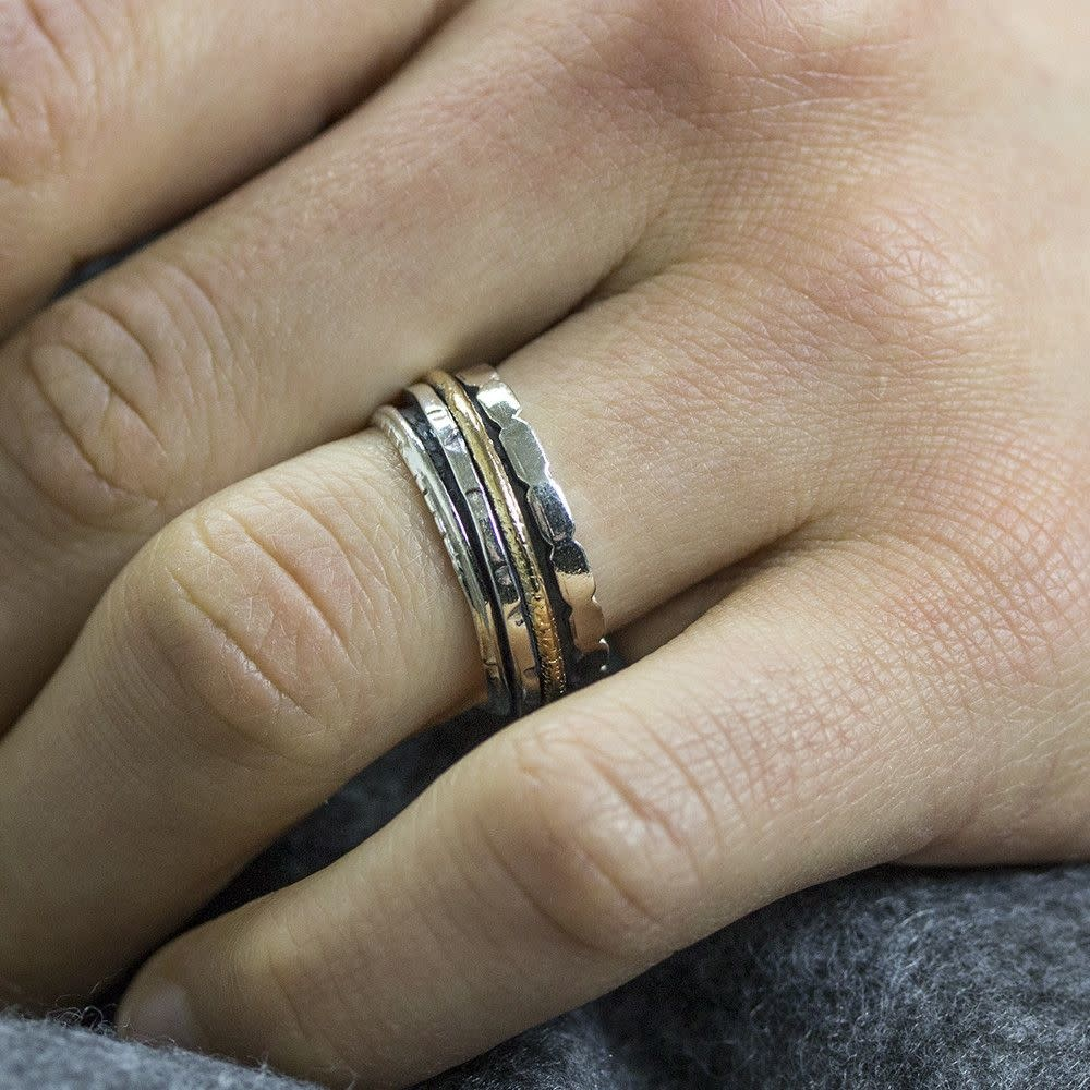 Ring Silver + Gold Filled 18483-8
