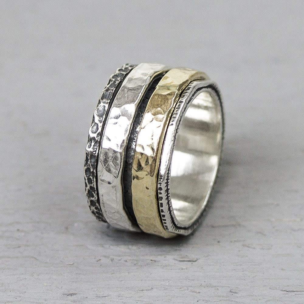 Ring Silver + Gold Filled 19969-10