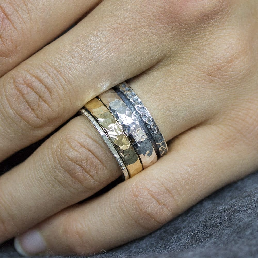 Ring Silver + Gold Filled 19969-12