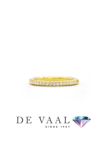 Yellow gold wedfit G ring 18k.