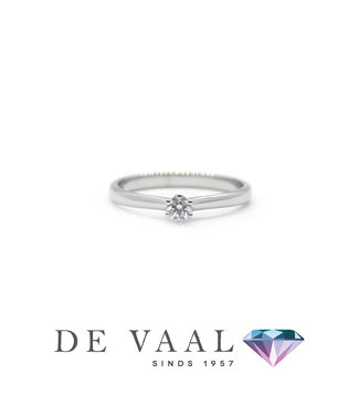 Bloch & Co White gold solitaire ring royal 18k.