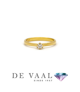 Bloch & Co Geelgouden solitair ring royal 18Krt.
