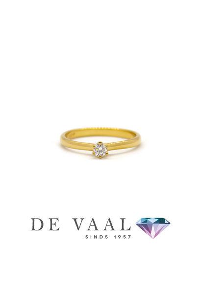 Geelgouden solitair ring royal 18Krt.