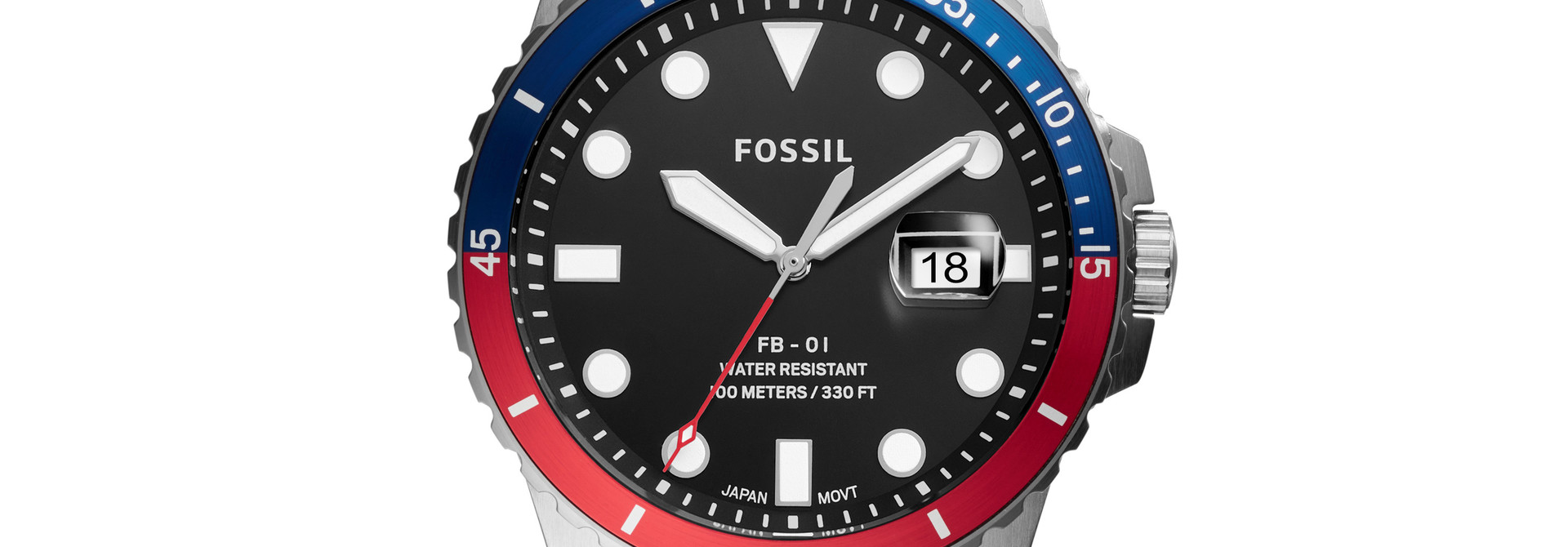 Fossil FB-01 Three-Hand Date Stainless Steel Watch FS5657