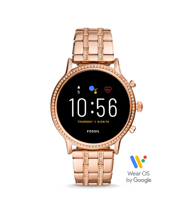 Fossil Gen 5 Smartwatch - Julianna Hr Rose Gold-Tone Stainless Steel