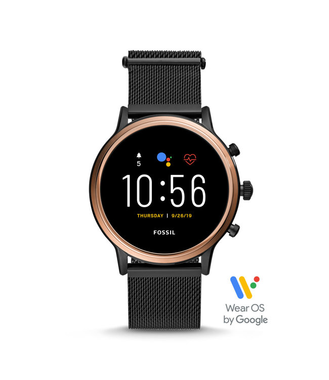Fossil Gen 5 Smartwatch - Julianna Hr Black Stainless Steel FTW6036