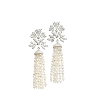 "Brigitte Adolph Earrings ""Miss Aida tassel"""