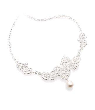 "Brigitte Adolph Necklace ""Figaro"" in silver"