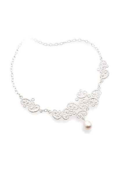 "Necklace ""Figaro"" in silver"
