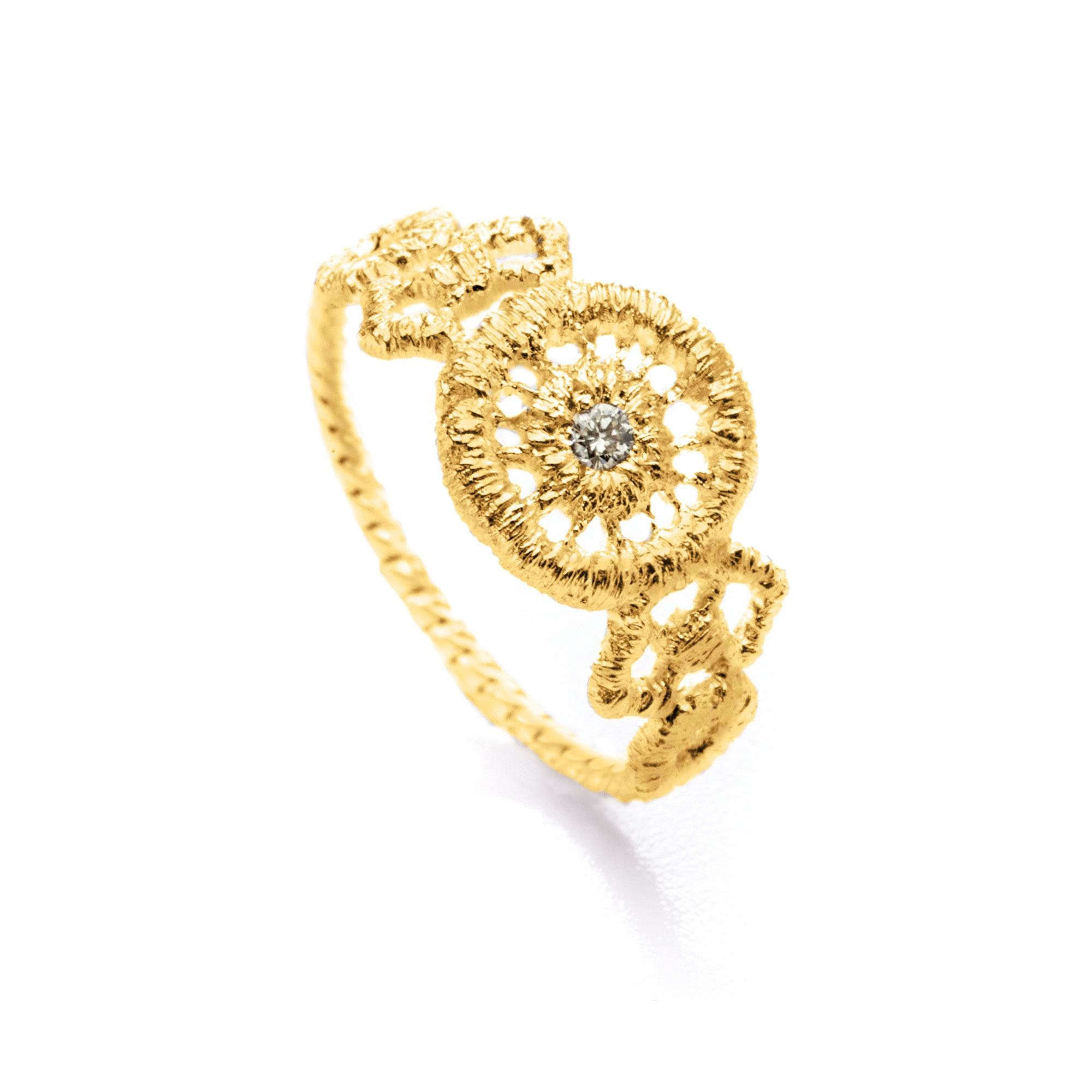 "Ring or knuckle ring ""Turandot""-2"