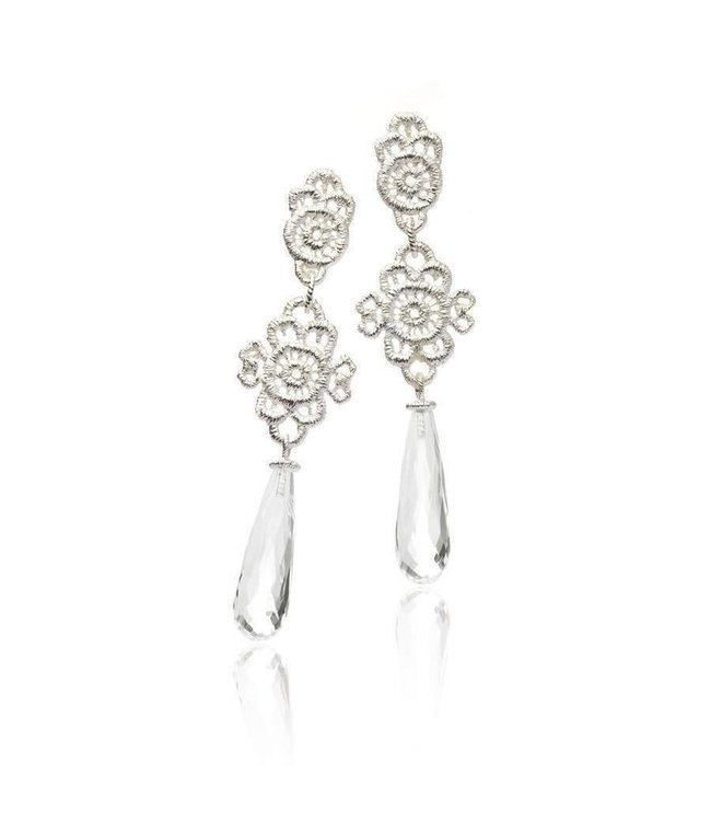 """Pendant earrings """"Madame Favart"""""""