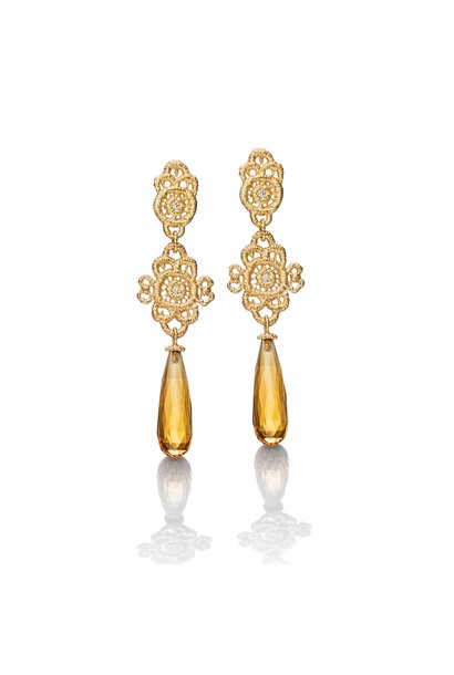 "Pendant earrings ""Madame Favart"""