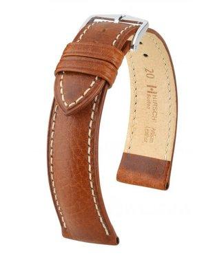 Hirsch Horlogebandje Boston, Artisan Leather Kalfsleer Goudbruin