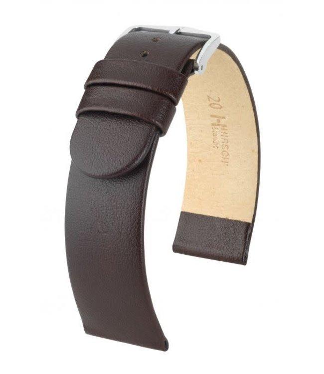 Hirsch Horlogebandje Scandic Kalfsleer Bruin