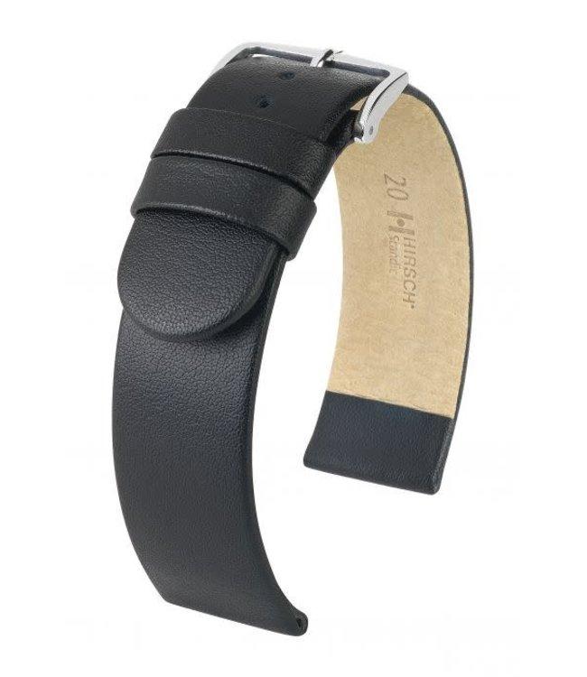 Hirsch Horlogebandje Scandic Kalfsleer Zwart