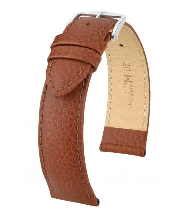 Hirsch Horlogebandje Kansas Kalfsleer Goudbruin