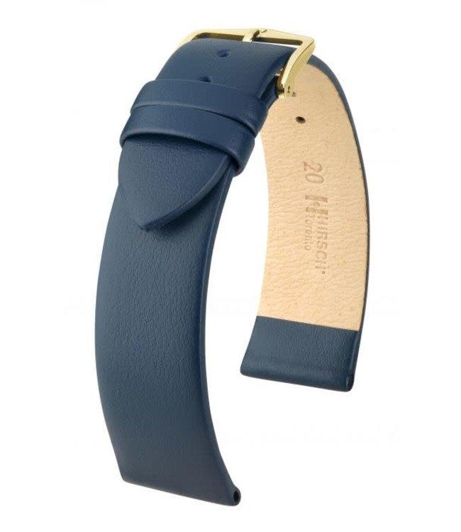 Hirsch Horlogebandje Toronto Kalfsleer Blauw