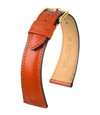 Hirsch Horlogebandje Siena, Artisan Leather Kalfsleer Goudbruin