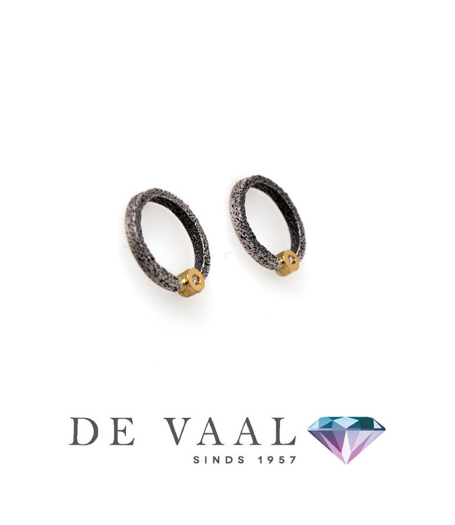 New Kora kleine oorbel Diamant 0.02CT