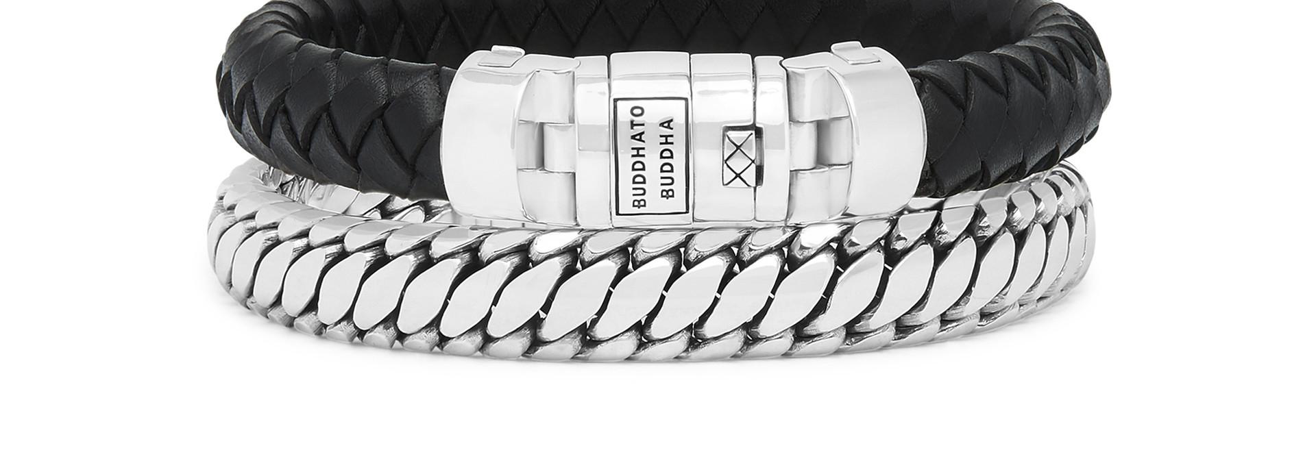 Bracelet Ben Customized Set Silver & Leather