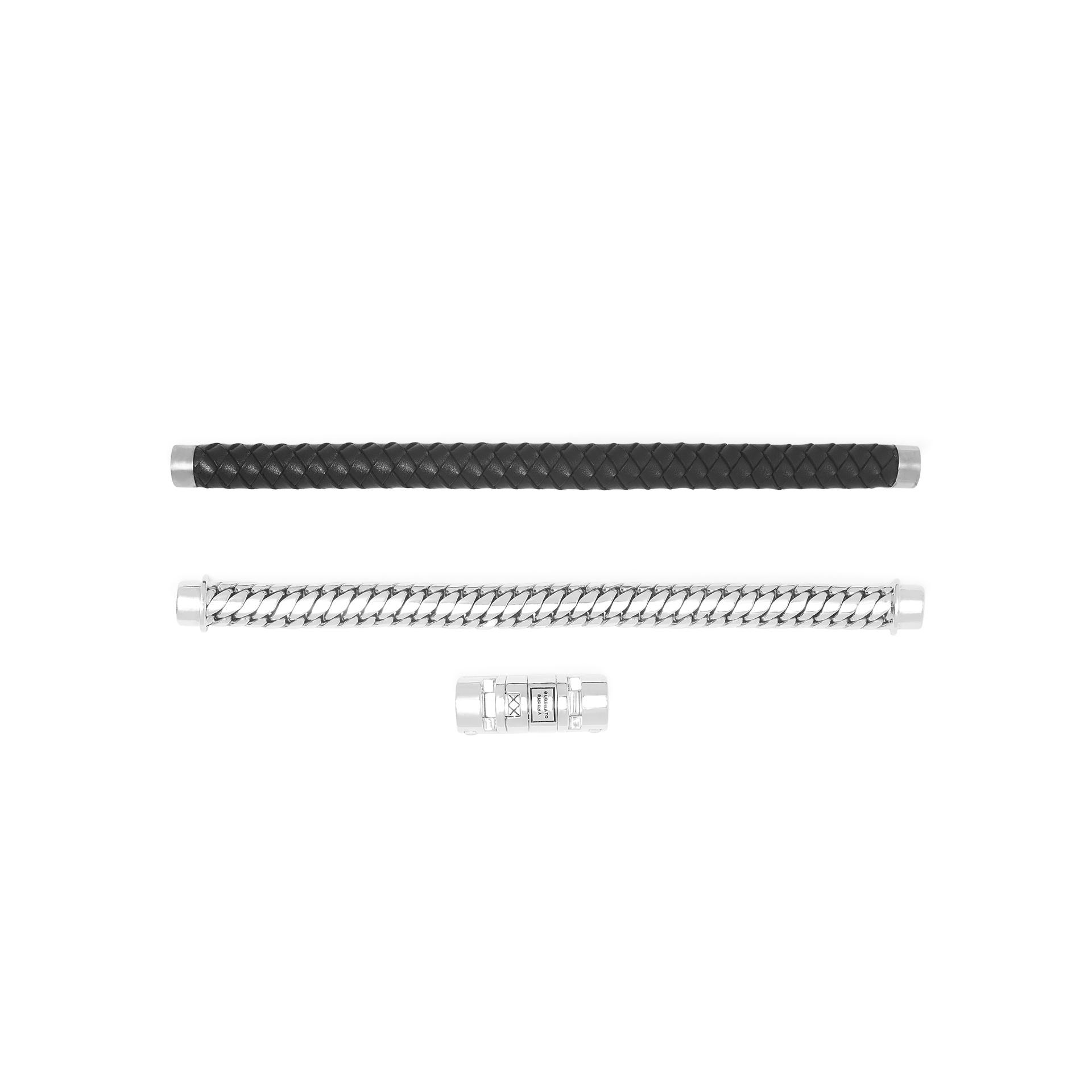 Bracelet Ben Customized Set Silver & Leather-7