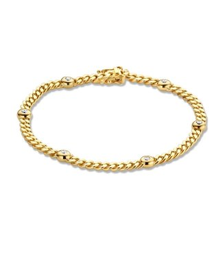 Excellent Jewelry Bracelet yellow gold brilliant 0,30 crt.