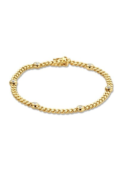 Bracelet yellow gold brilliant 0,30 crt.