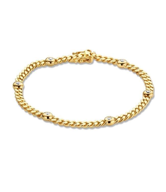 Excellent jewelry Armband geelgoud briljant 0,30 crt.