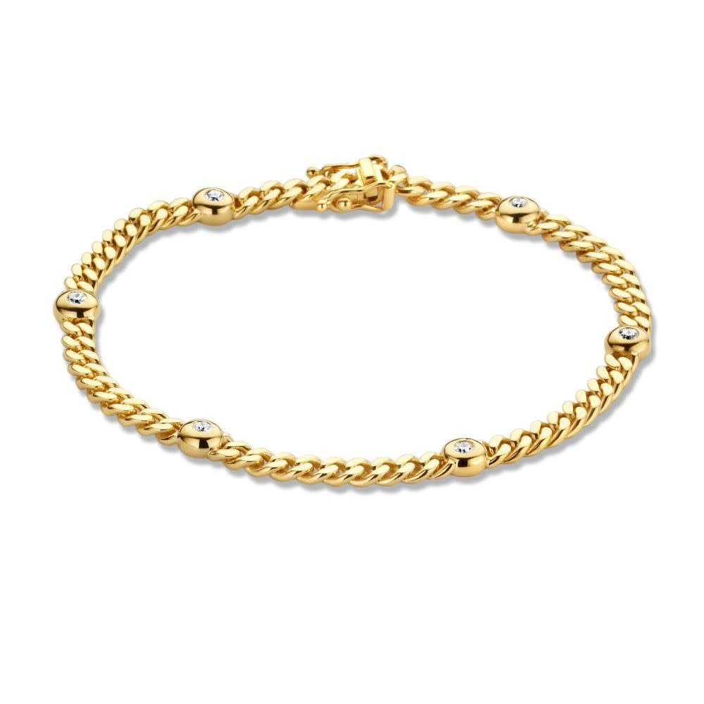 Bracelet yellow gold brilliant 0,30 crt.-1