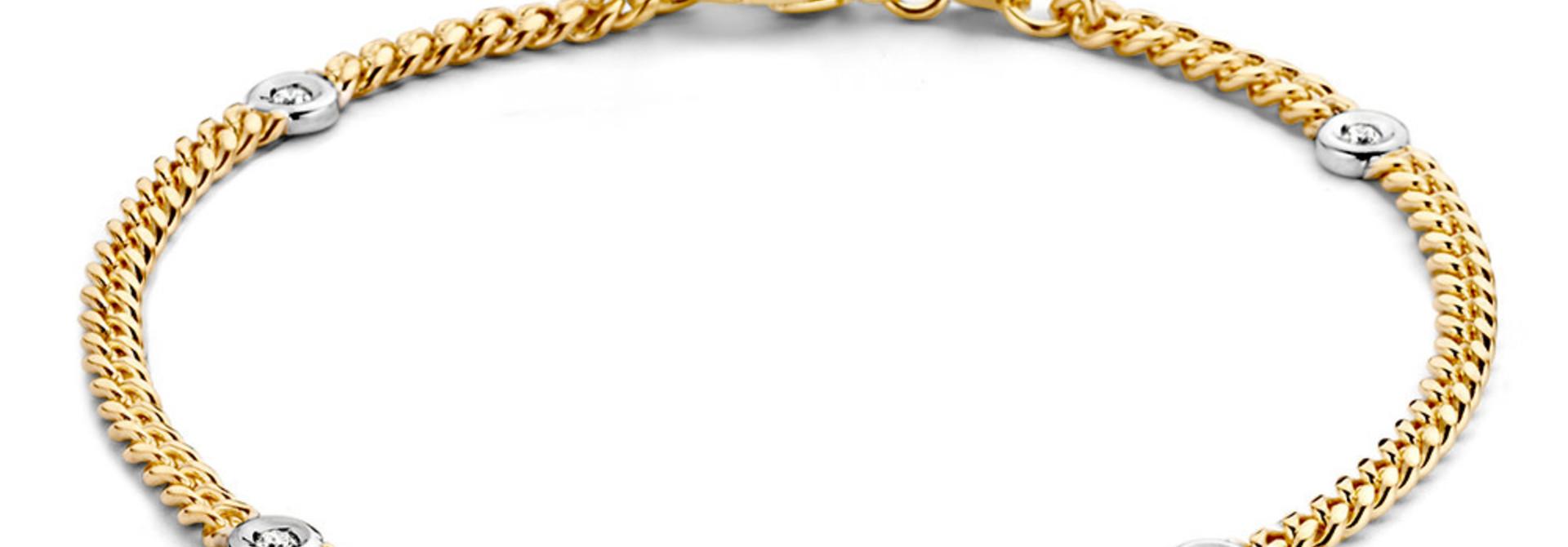 Bracelet bicolor brilliant 0,10 crt.