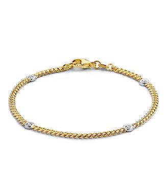 Excellent Jewelry Bracelet bicolor brilliant 0,10 crt.