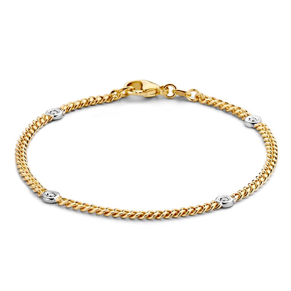 Bracelet bicolor brilliant 0,10 crt.-1
