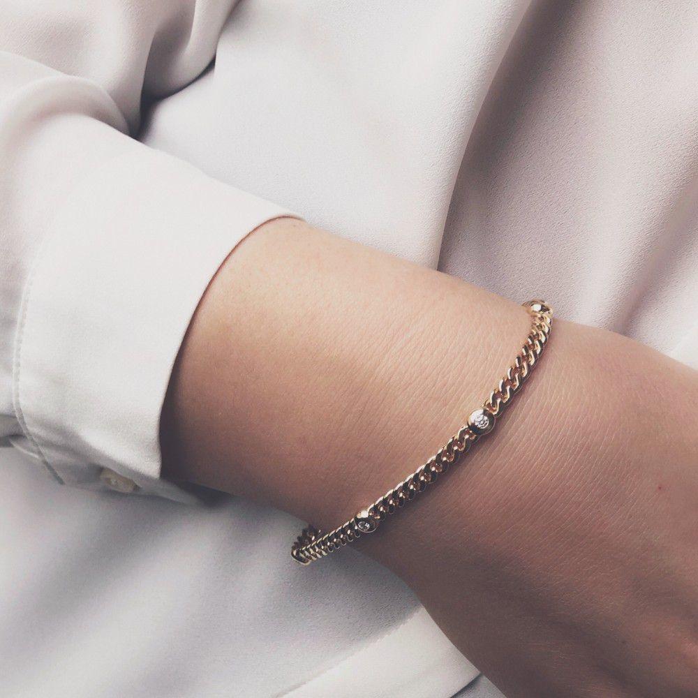 Bracelet bicolor brilliant 0,10 crt.-2