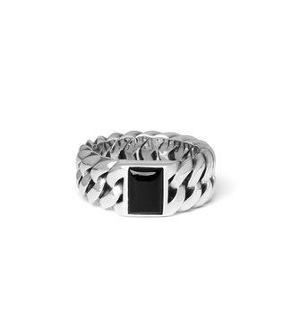 Buddha to Buddha Chain Stone Ring Onyx