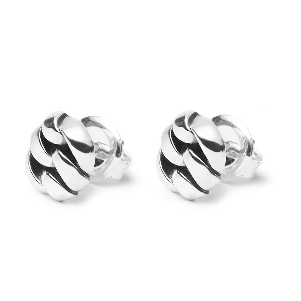 Chain Earstud Silver-1