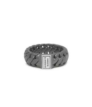 Buddha to Buddha Ring Ben Small Black Rhodium Silver