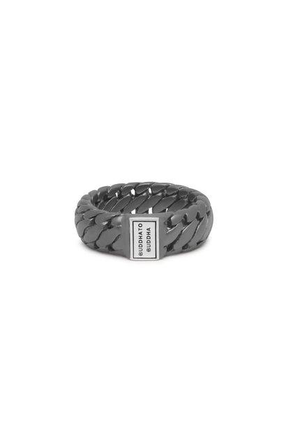 Ring Ben Small Black Rhodium Zilver