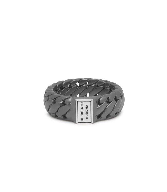 Buddha to Buddha Ring Ben Small Black Rhodium Silver