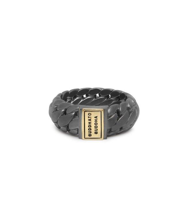 Ring Ben Small Black Rhodium Goud
