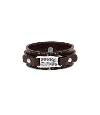 Buddha to Buddha Bracelet Jantan Leather Brown