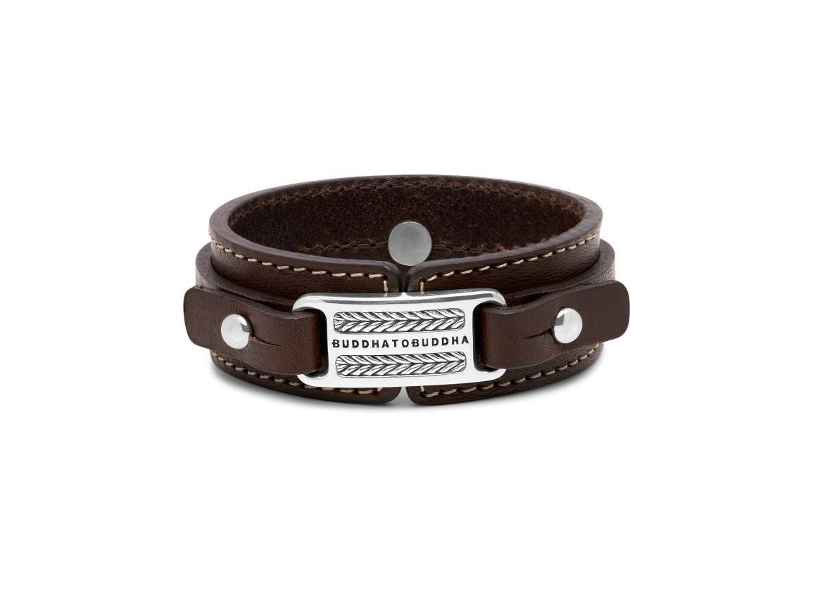 Bracelet Jantan Leather Brown-1