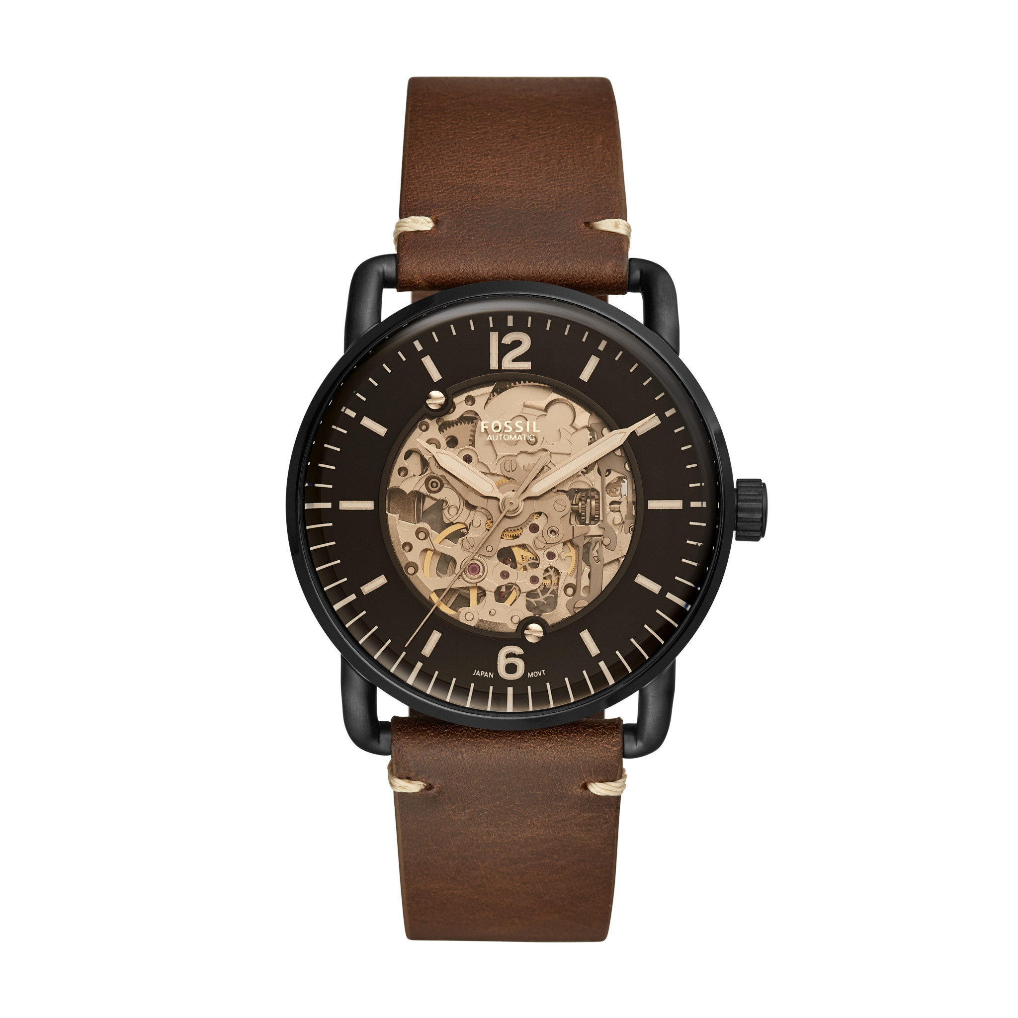 Fossil Commuter Automatic Brown Leather Watch ME3158-1