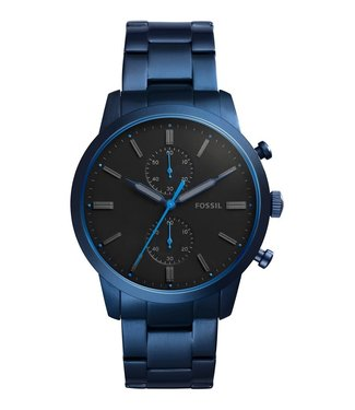 Fossil Fossil Townsman 44mm Chronograph Blue Stainless Steel Watch FS5345