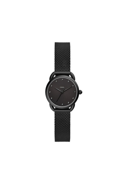 Fossil Tailor Three-Hand Black Stainless Steel Watch ES4489