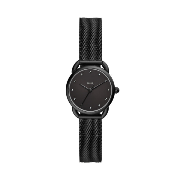 Fossil Tailor Three-Hand Black Stainless Steel Watch ES4489-1