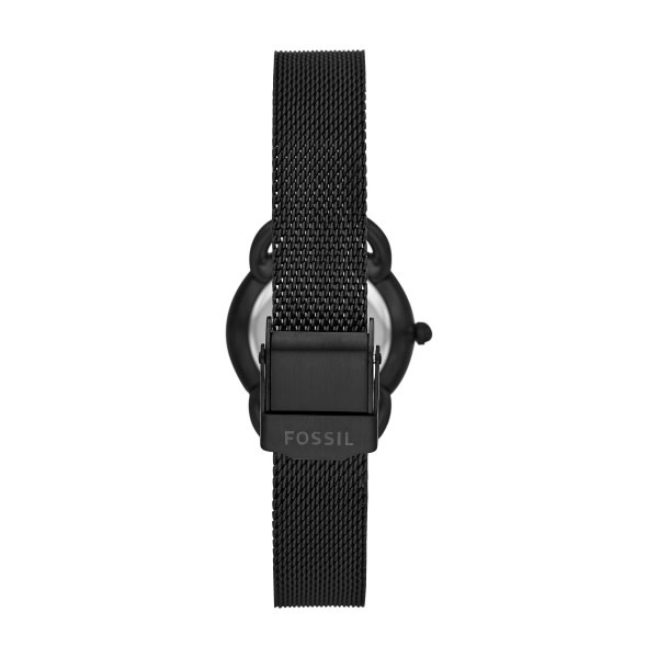 Fossil Tailor Three-Hand Black Stainless Steel Watch ES4489-2